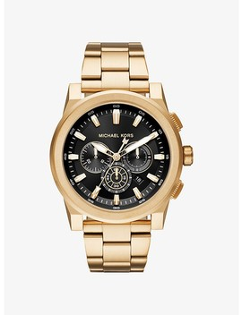 Grayson Gold Tone Watch by Michael Kors