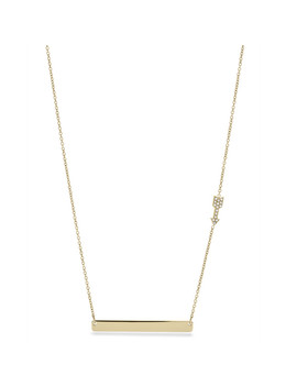 Damen Halskette   Arrow Plaque by Fossil