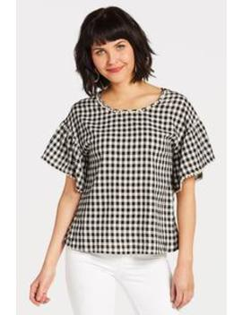 Gingham Knot Back Top by Evereve