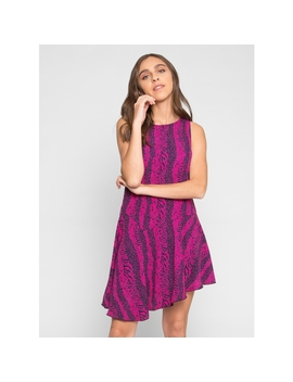 Hideout Printed Dress In Purple by Wet Seal
