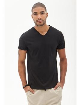 cotton-modal-blend-v-neck by forever-21