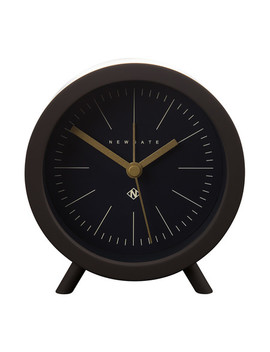 Fred Alarm Clock   Chocolate Black   Black Dial by Newgate Clocks