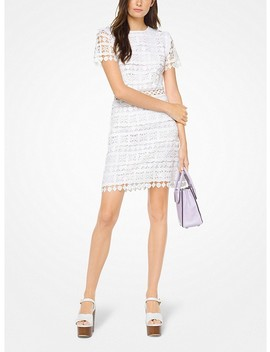 Geometric Floral Lace Dress by Michael Michael Kors