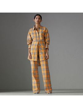 Vintage Check Drawcord Trousers by Burberry