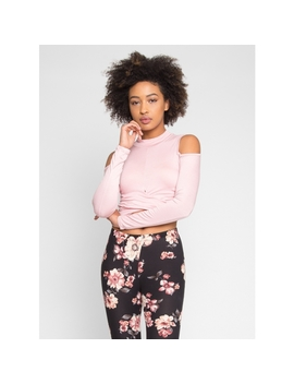 Gael Crop Top In Pink by Wet Seal