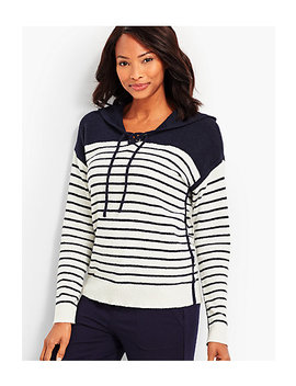 Striped Hooded Popover by Talbots