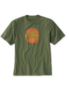Lakewashed Garment Dyed Cotton Crewneck Graphic Tee, Slightly Fitted Short Sleeve Onward Mountain by L.L.Bean