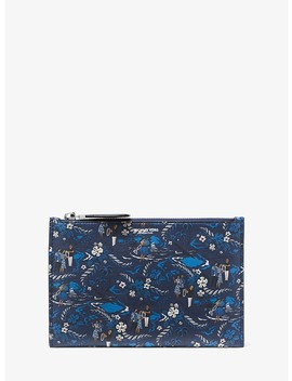 Bancroft Tropical Welcome Print Leather Pouch by Michael Kors Collection