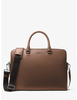 Harrison Leather Briefcase by Michael Kors Mens