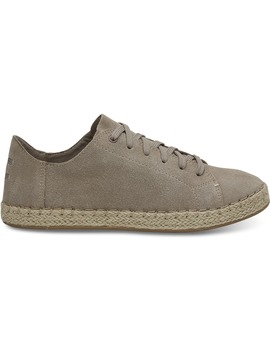 Desert Taupe Suede Women's Lena Espadrille Sneakers by Toms