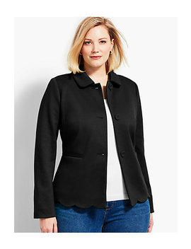 Scallop Ponte Jacket by Talbots
