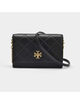 Georgia Turn Lock Mini Bag In Black Leather by Monnier Frères