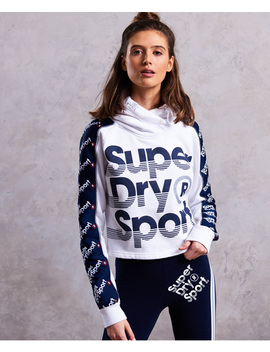 Sports 021 Crop Hoodie by Superdry