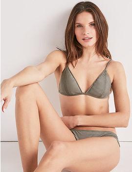 Suede Triangle Bra Bikini Top by Lucky Brand