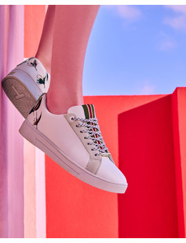 Fly Fish Embroidered Sneakers by Ted Baker