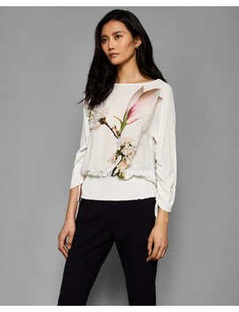 Harmony Embellished Sheared Sleeve Top by Ted Baker