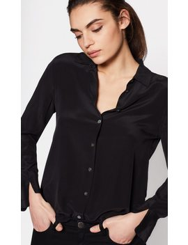 Split Cuff Essential Silk Shirt by Equipment