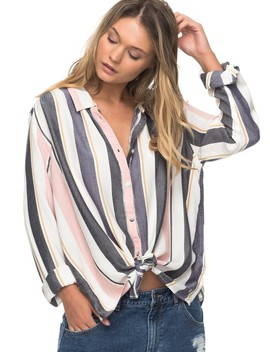 Romantic Path Stripe Long Sleeve Shirt by Roxy