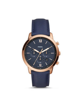 Neutra Chronograph Navy Leather Watch by Fossil