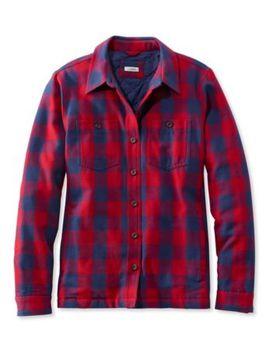 Prima Loft Lined Shirt Jac, Plaid by L.L.Bean