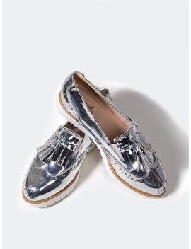 Metallic Platform Loafers by Zooshoo