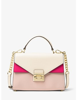 Sloan Color Block Leather Satchel by