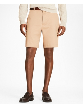 Plain Front Stretch Advantage Chino Shorts by Brooks Brothers