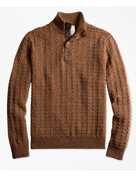 Limited Edition Braemar™ Lambswool Mockneck Sweater by Brooks Brothers