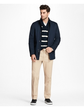 Water Repellent Cotton Walking Coat by Brooks Brothers