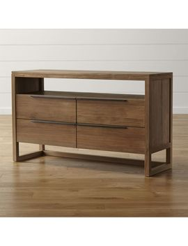 Linea Ii Natural Four Drawer Dresser by Crate&Barrel