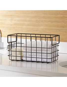 Black Wire Basket Small by Crate&Barrel