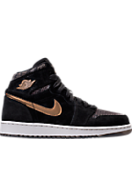 Girls' Grade School Air Jordan Retro 1 High Premium Heiress Collection (3.5y   9.5y) Basketball Shoes by Nike
