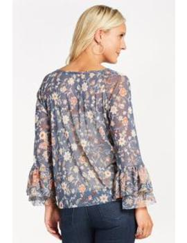 Calla Floral Mesh Top by Evereve