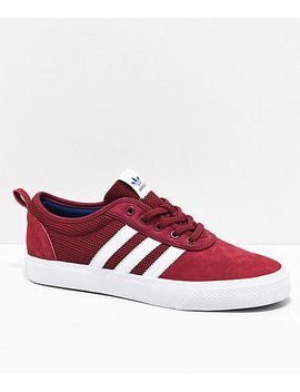 adidas-adiease-maroon-&-white-shoes by adidas