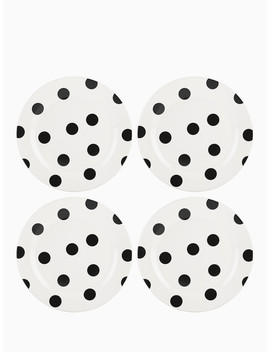 Deco Dot Accent Plates, Set Of 4 by Kate Spade