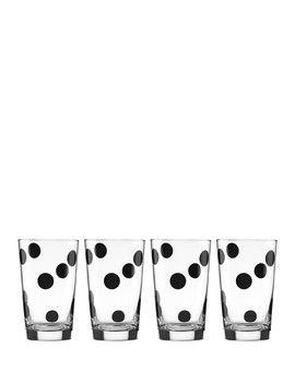 Set Of 4 Dot Glasses by Kate Spade