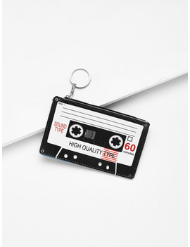 Tape Shaped Card Pouch by Sheinside