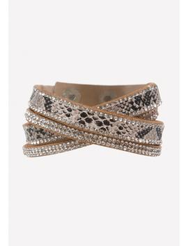 Faux Python Wrap Bracelet by Bebe