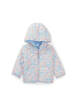 Floral Hooded Quilted Jacket by Ralph Lauren