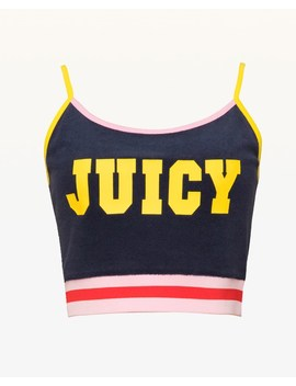 Jxjc Juicy Logo Microterry Crop Top by Juicy Couture