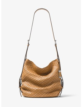 Naomi Extra Large Woven Leather Shoulder Bag by Michael Kors Collection