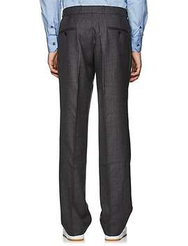 Pinstriped Wool Pleated Front Trousers by Gosha Rubchinskiy