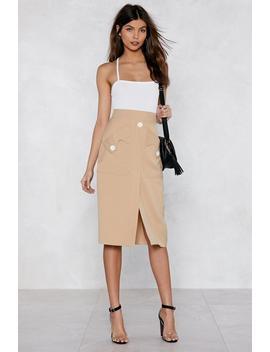 Pocket With The Program Midi Skirt by Nasty Gal