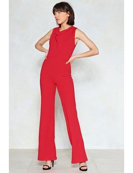 Cowl May I Help You Wide Leg Jumpsuit by Nasty Gal