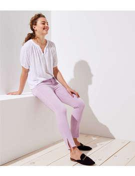 Modern Slit Frayed Skinny Jeans In Lush Lilac by Loft