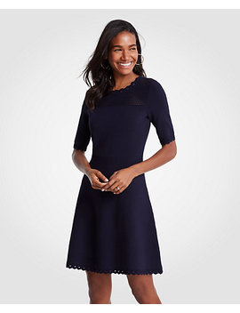 Petite Cutout Flare Sweater Dress by Ann Taylor