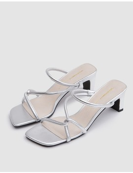 Willow Heel In Silver by Need Supply Co.