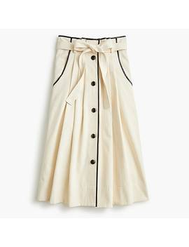 Pleated Cone Denim® Midi Skirt by Pleated Cone Denim