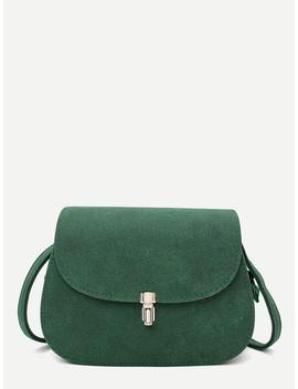 Metal Detail Saddle Bag by Sheinside