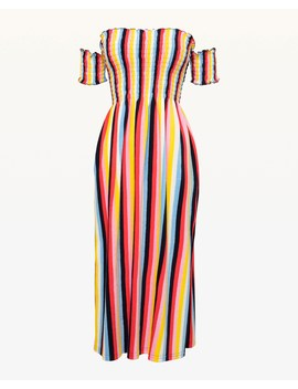 Multicolor Stripe Microterry Midi Dress by Juicy Couture